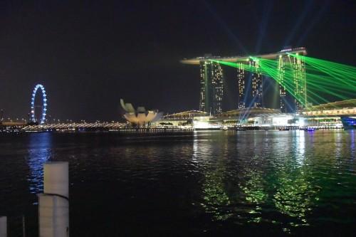 シンガポール風水ツアー㉚ マリーナベイサンズのレーザーショー