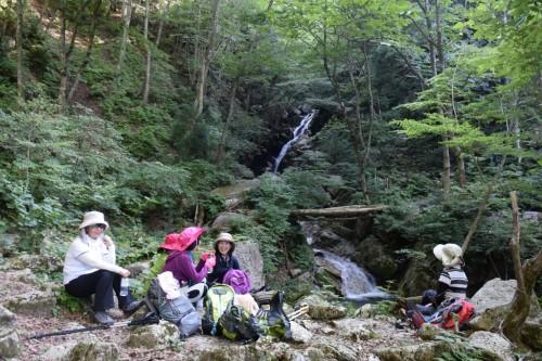 滋賀県・八つ淵の滝トレッキング㉔