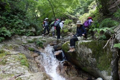 滋賀県・八つ淵の滝トレッキング⑫