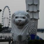 シンガポール風水ツアー⑥  マーライオンとベビーマーライオン