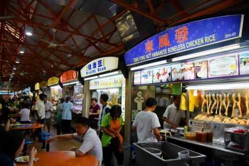 シンガポール風水ツアー㉑ マックスウェルフードセンターのおすすめチキンライス「東風發」