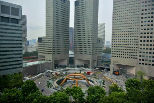 シンガポール風水ツアー㉗ コンラッドから見るサンテックシティと富の噴水