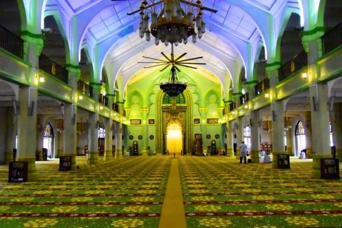 シンガポール風水ツアー⑬ サルタンモスク 内部