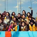 37-宙SORA-南三陸町-波伝谷漁港沖にて集合写真