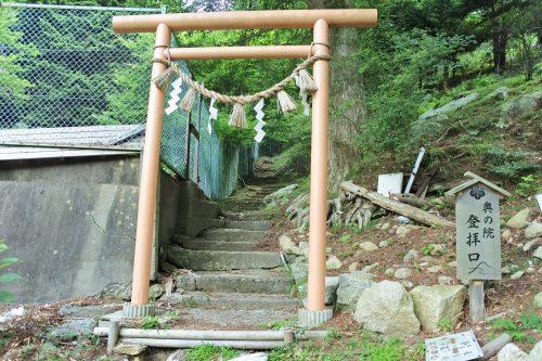 8-黄金山神社風水ツアー 登山口(奥の院へ)