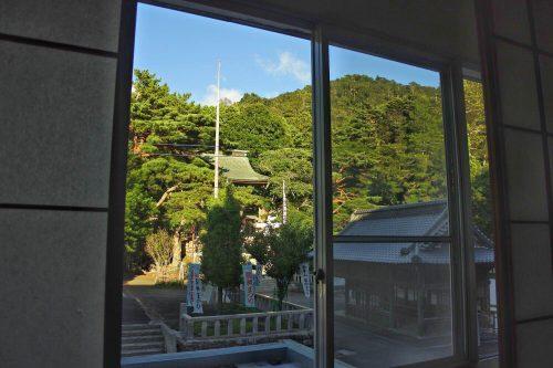 3-黄金山神社風水ツアー 部屋からの景色